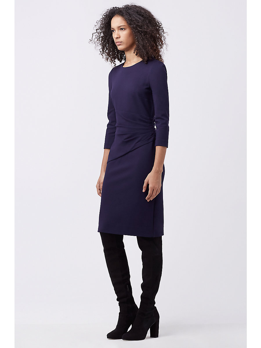 DVF GLENNIE FITTED DRESS in Royal Navy by DVF