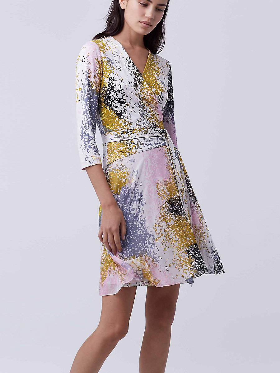 New Irina Wrap Dress in Stella Fresco Rock by DVF