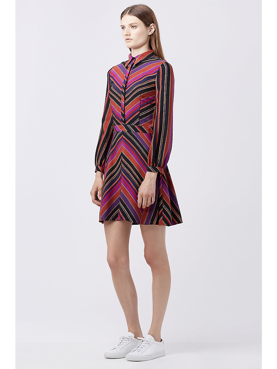 DVF CHRISSIE SHIRT DRESS in Counterpointe Rubiate by DVF