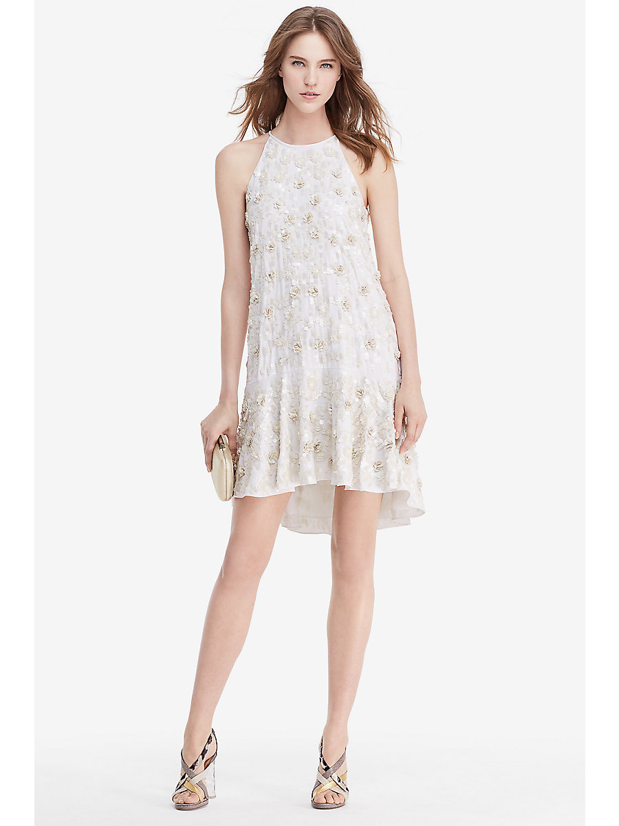 DVF Kera Sequin Embellished Dress in Ivory by DVF