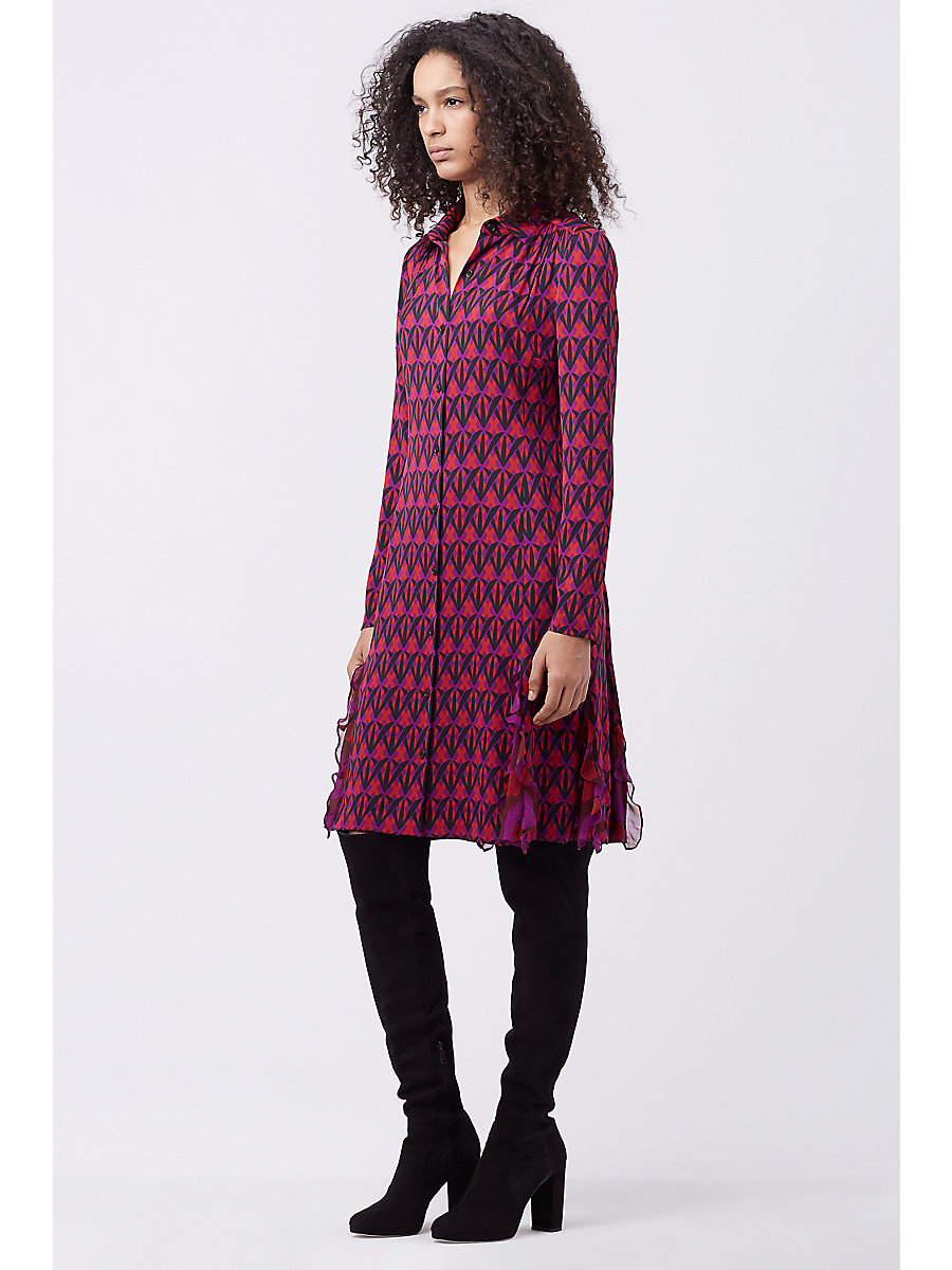 DVF CATHERINE NEW DRESS in Diamond Shadow Rubiate/pa Pe A by DVF