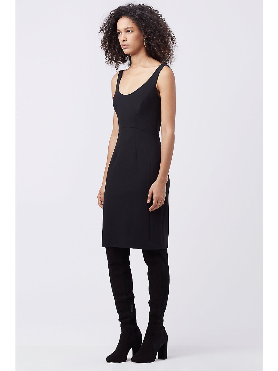 DVF GEOVANA FITTED DRESS in Black by DVF