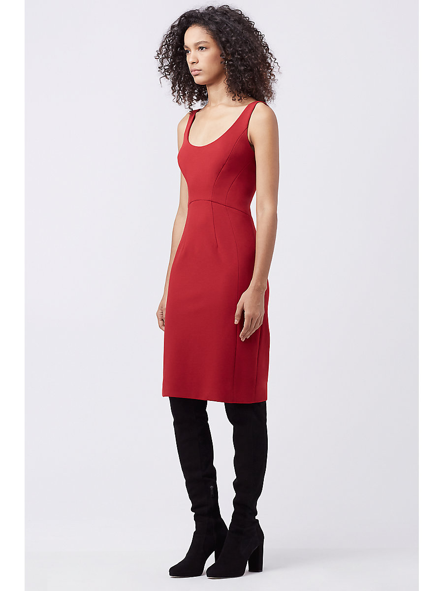 DVF GEOVANA FITTED DRESS in Rubiate by DVF