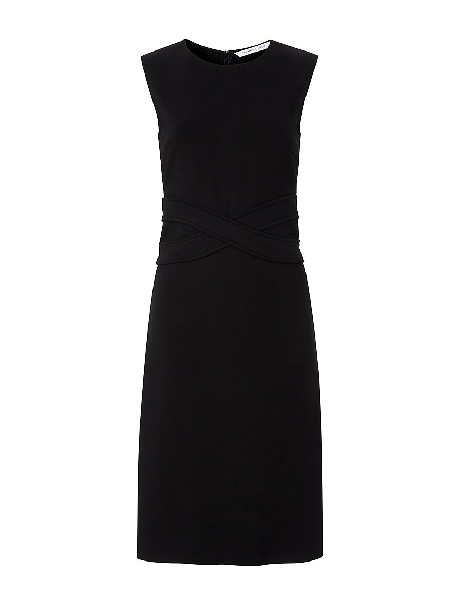 DVF Evita Fitted Dress in Black by DVF