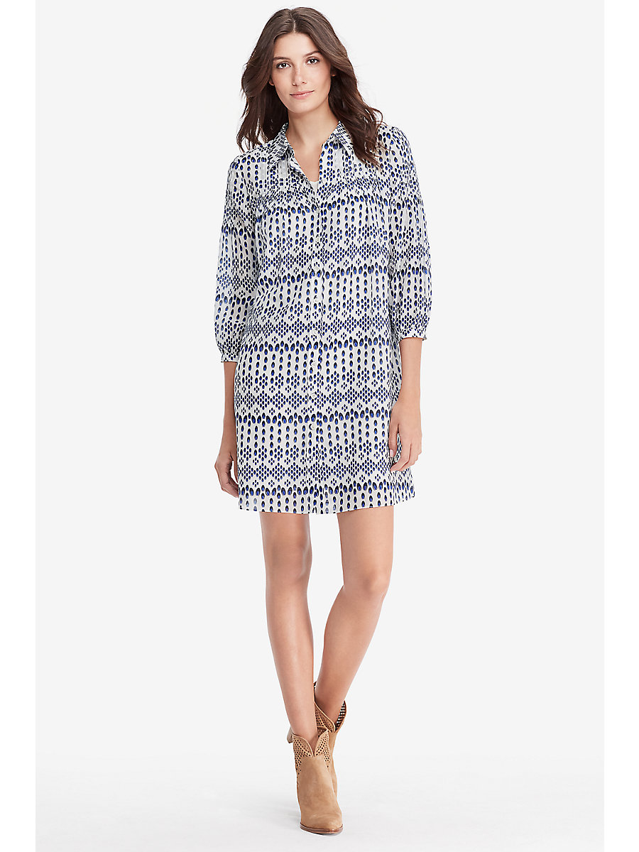 DVF Rylie Shirt Dress in Diamond Dots Mini by DVF