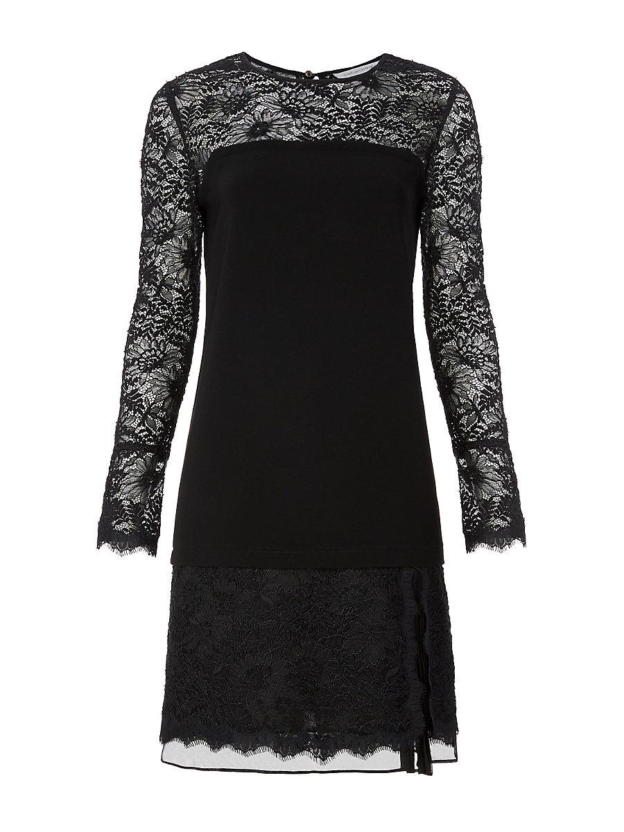 DVF Lavana Lace Dress in Black by DVF