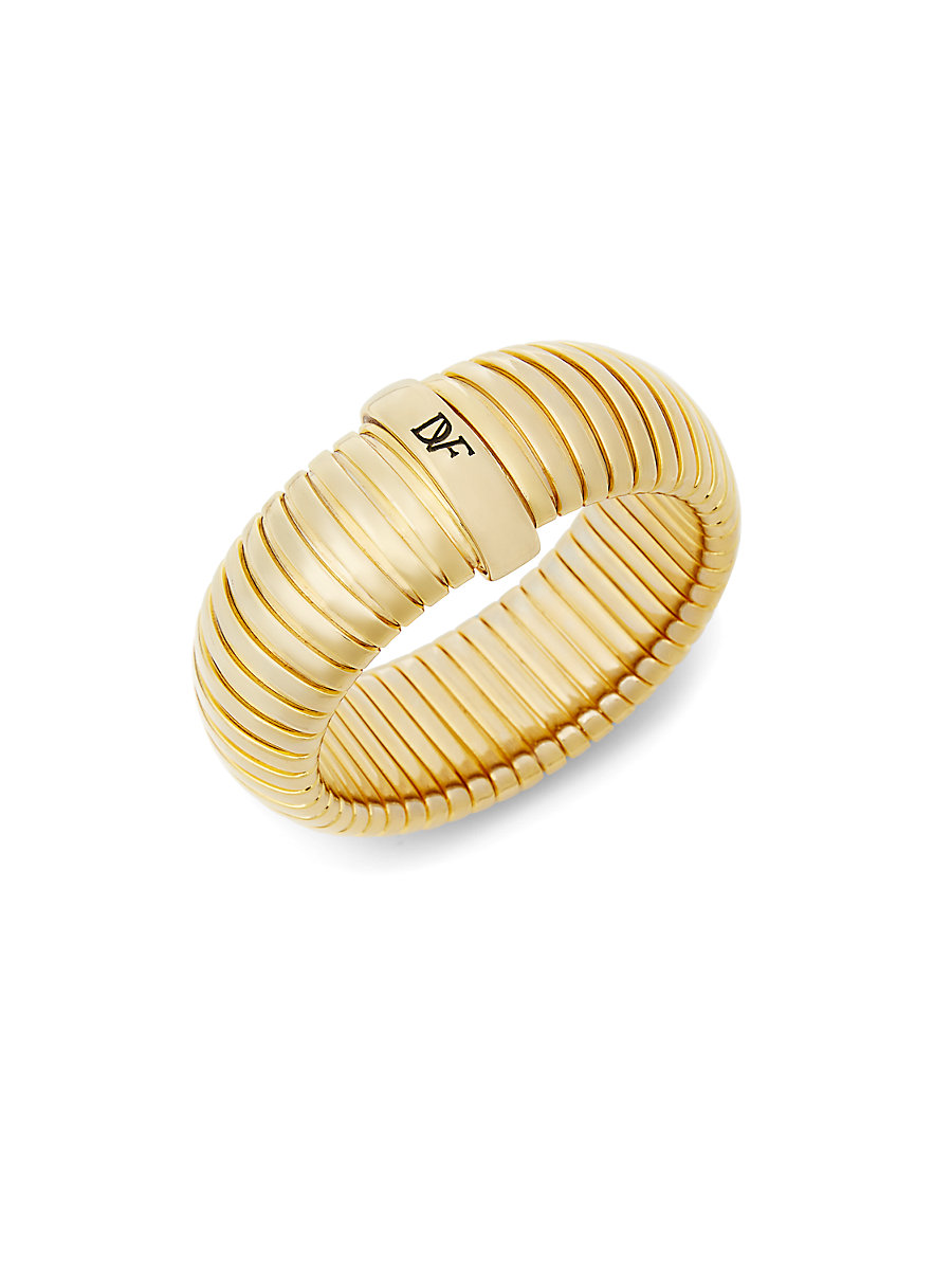 Large Snake Chain Bangle Bracelet in Gold by DVF