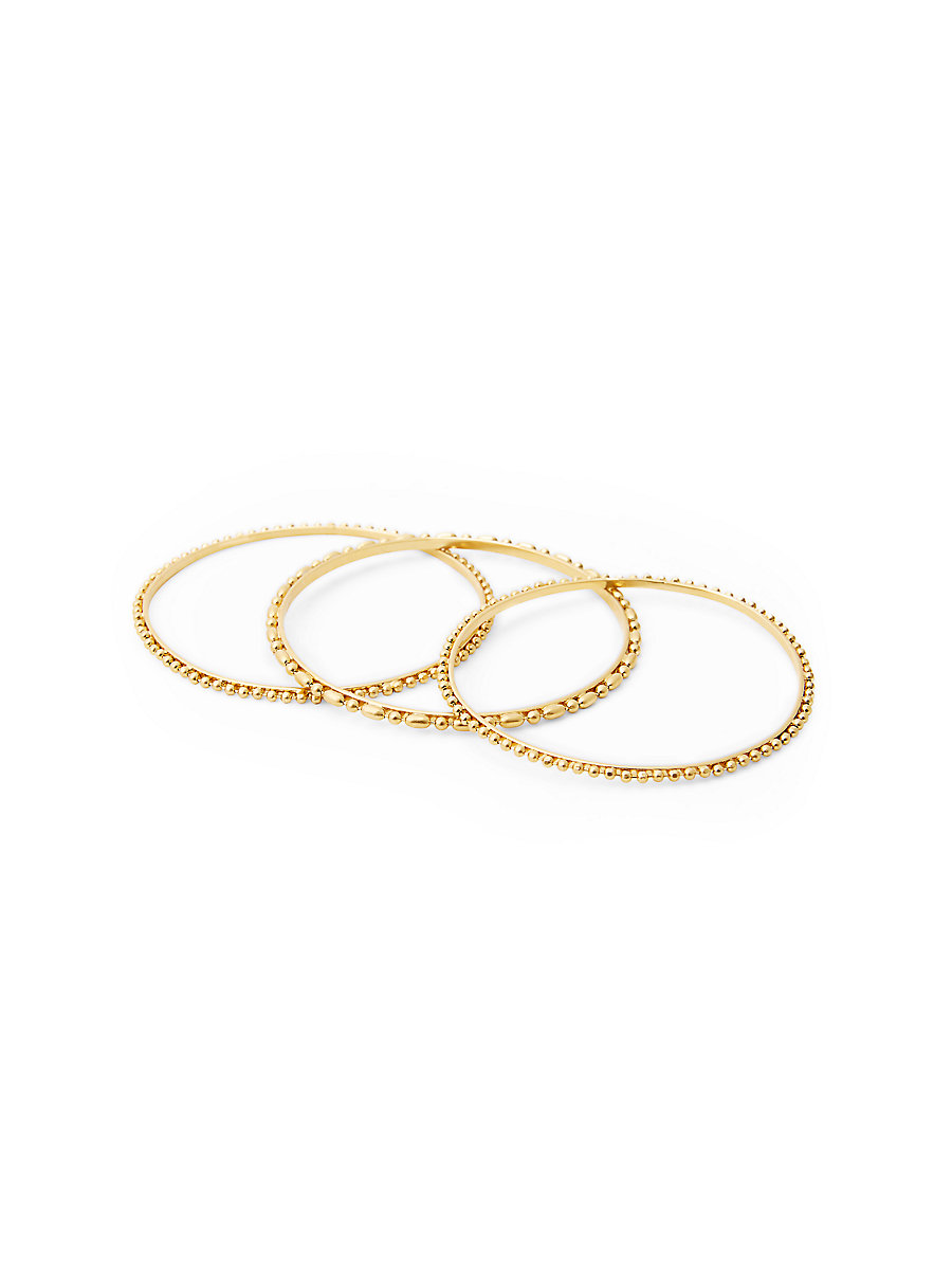 Ball Chain Bangle Set in Gold by DVF