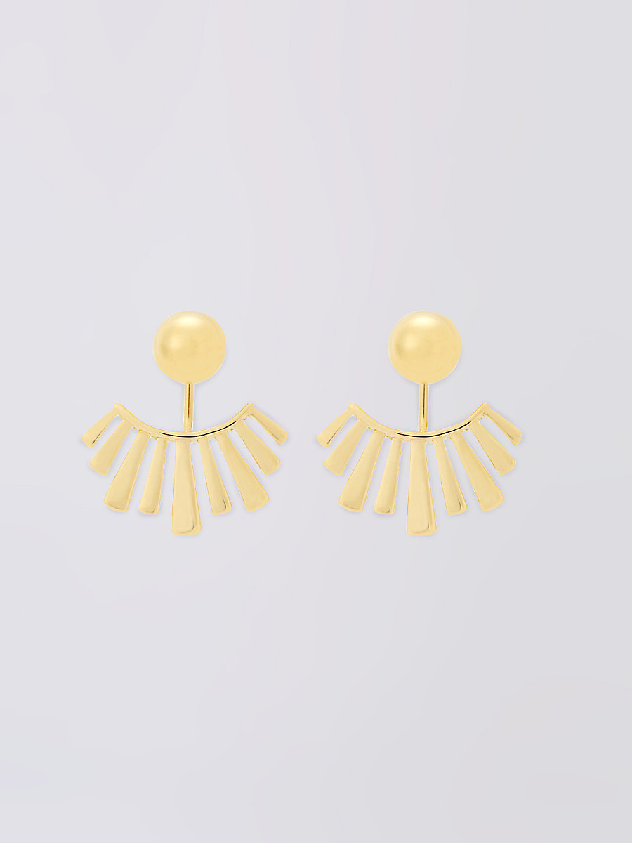 Gold Stick Jacket Earring in Gold by DVF