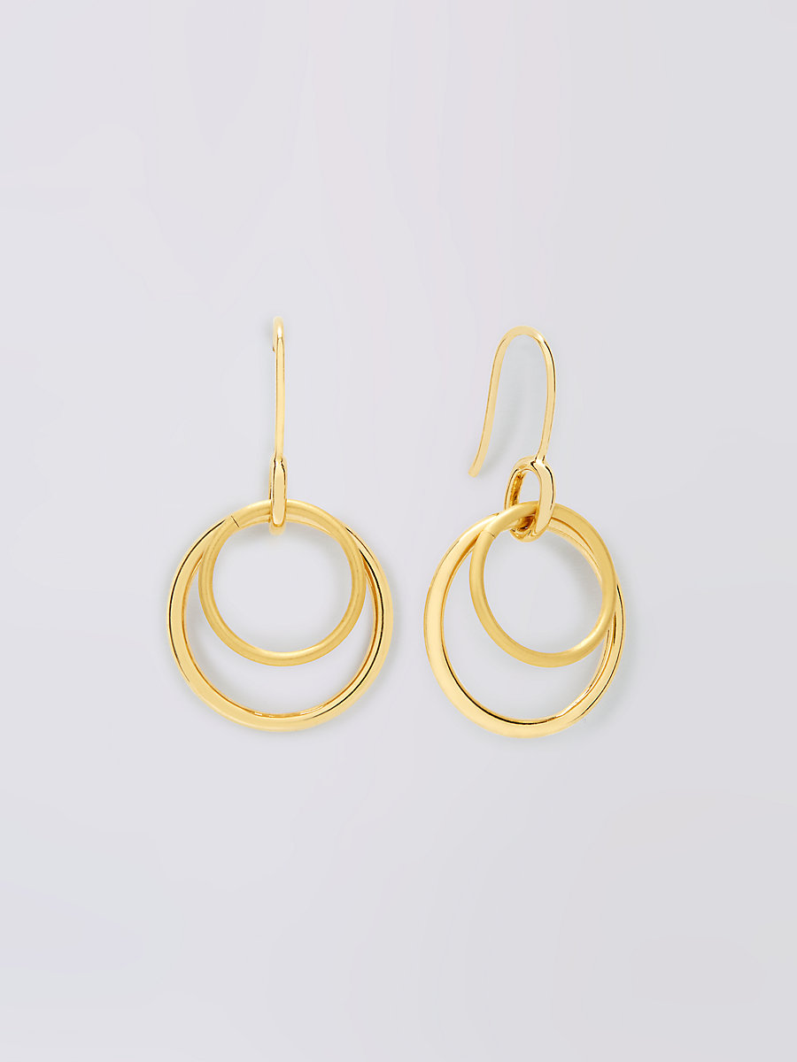 Gold Double Hoop Earring
