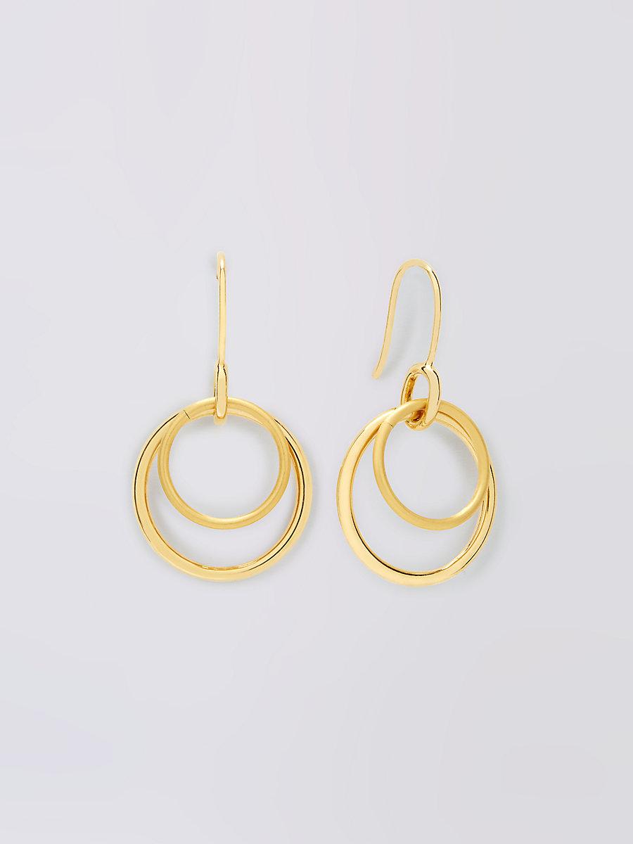 Gold Double Hoop Earring in Gold by DVF