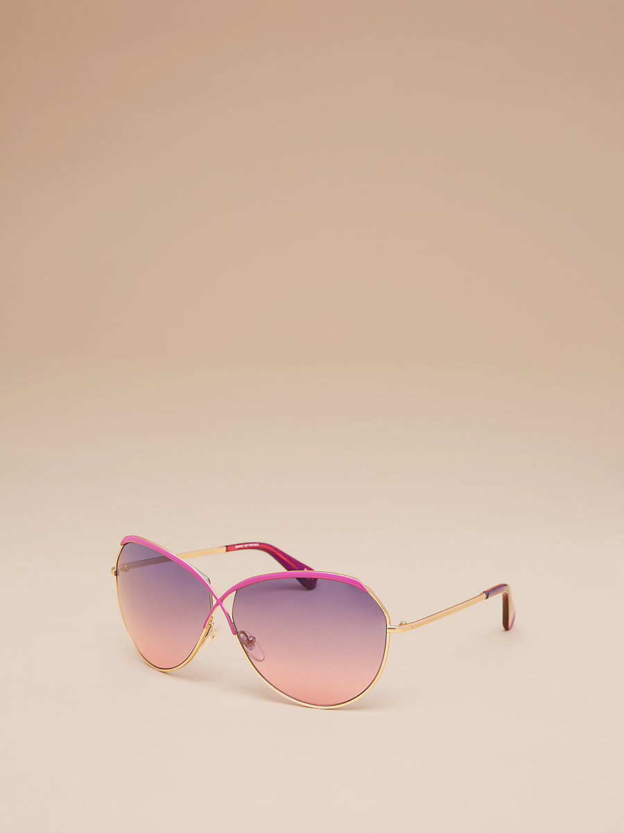 Bette Sunglasses in Gold/purple by DVF