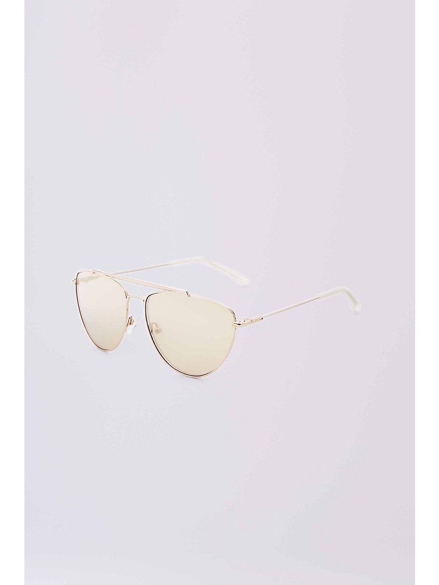 Krista Aviator Sunglasses in Gold by DVF