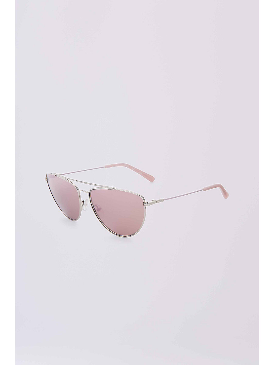Krista Aviator Sunglasses in Silver by DVF