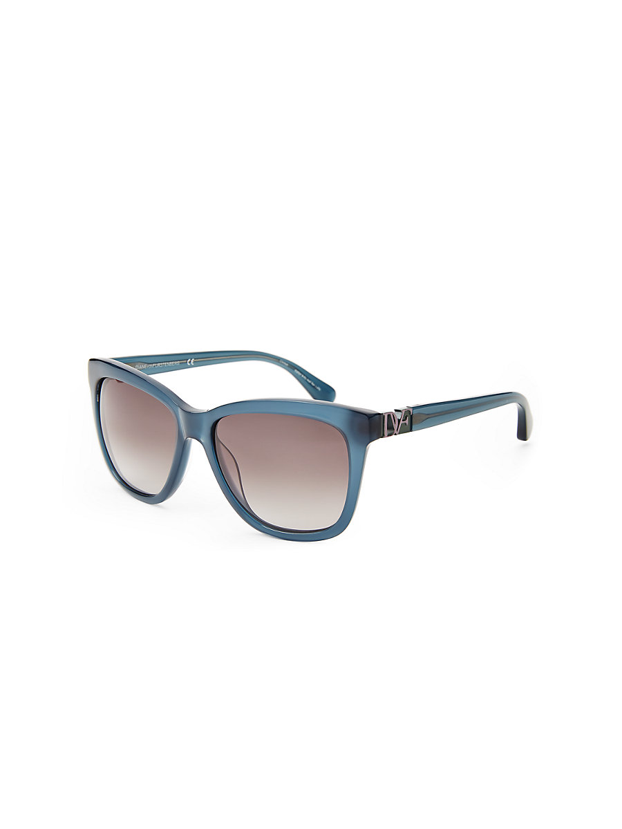 Ivy Translucent Sunglasses in Milky Blue by DVF