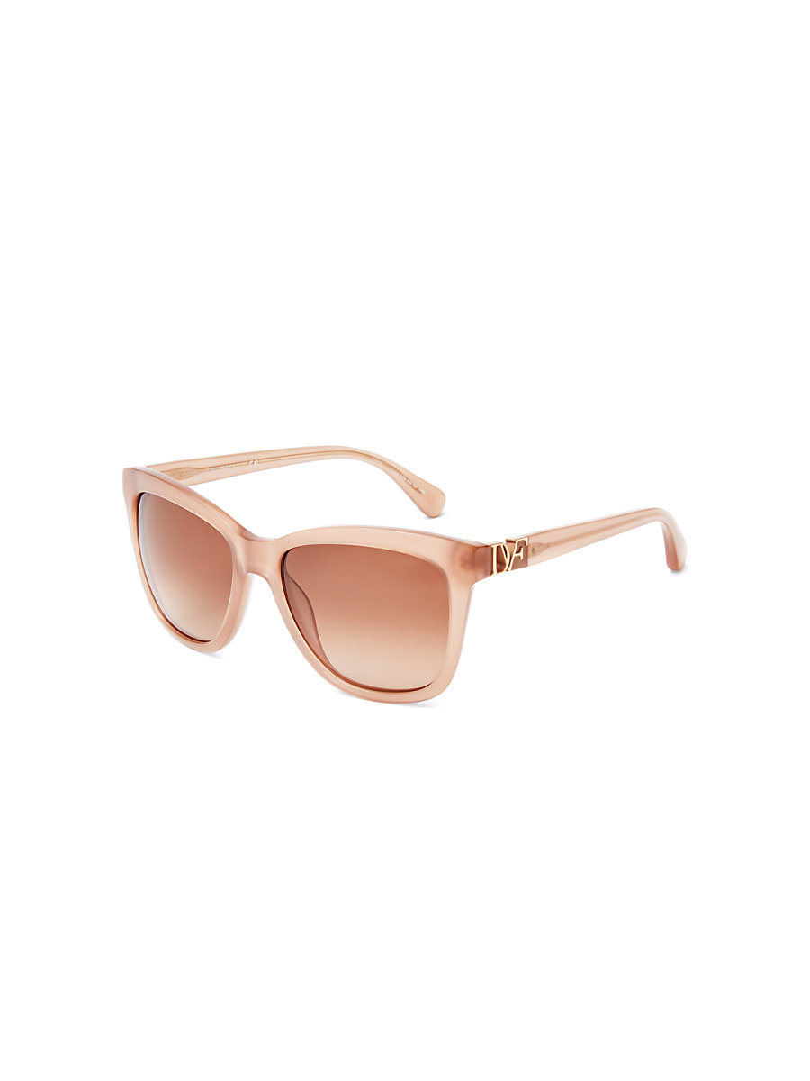 Ivy Translucent Sunglasses in Milky Blush by DVF