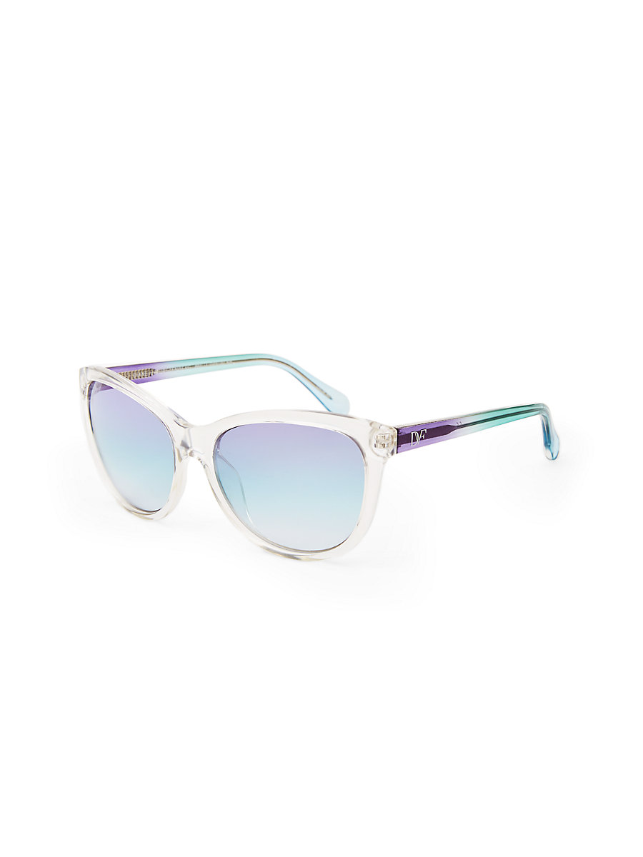 Brielle Translucent Sunglasses in Midnight by DVF