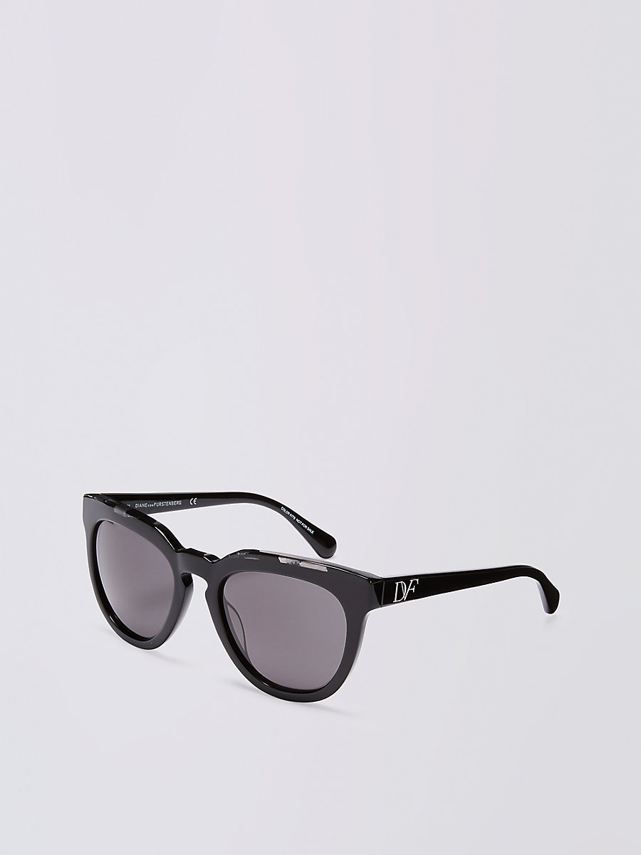 Rosie Sunglasses in Black by DVF