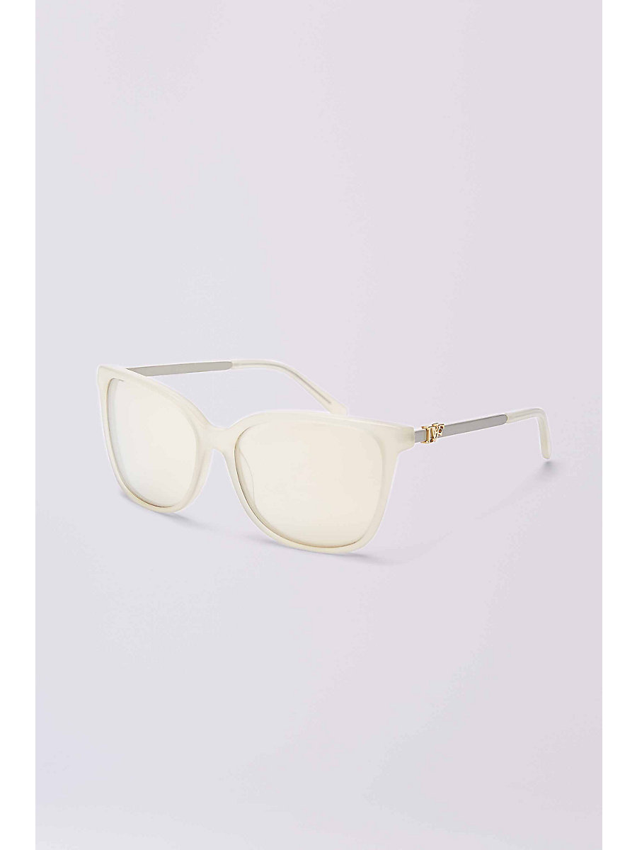 Joanna Sunglasses in Milky Cream by DVF