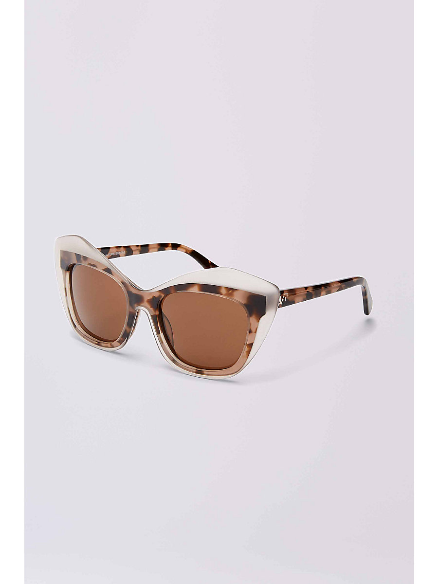 Sussi Sunglasses in Milky Blush Tortoise by DVF