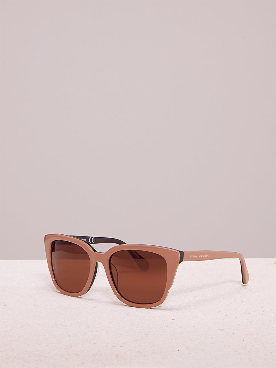 Neri Sunglasses in Beige by DVF