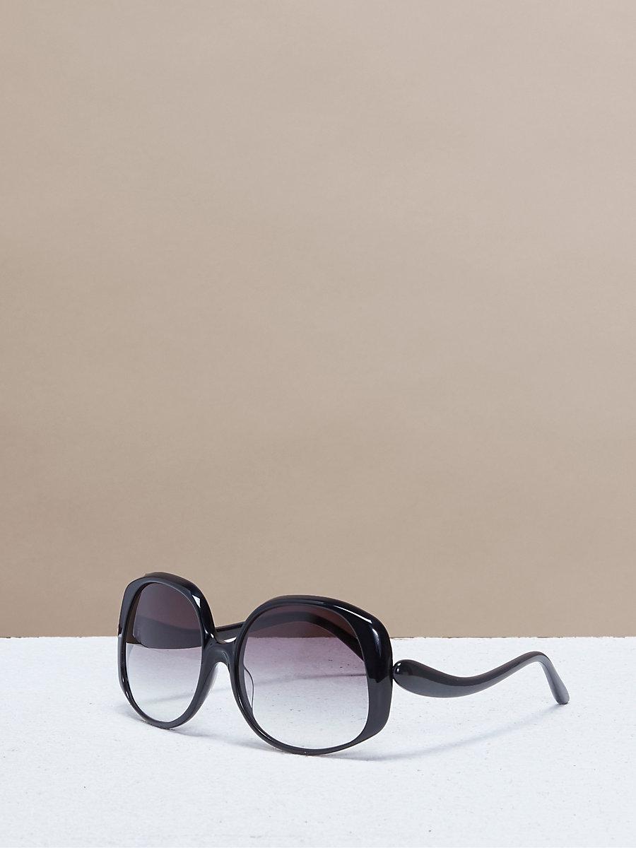 Gwen Sunglasses in Black by DVF