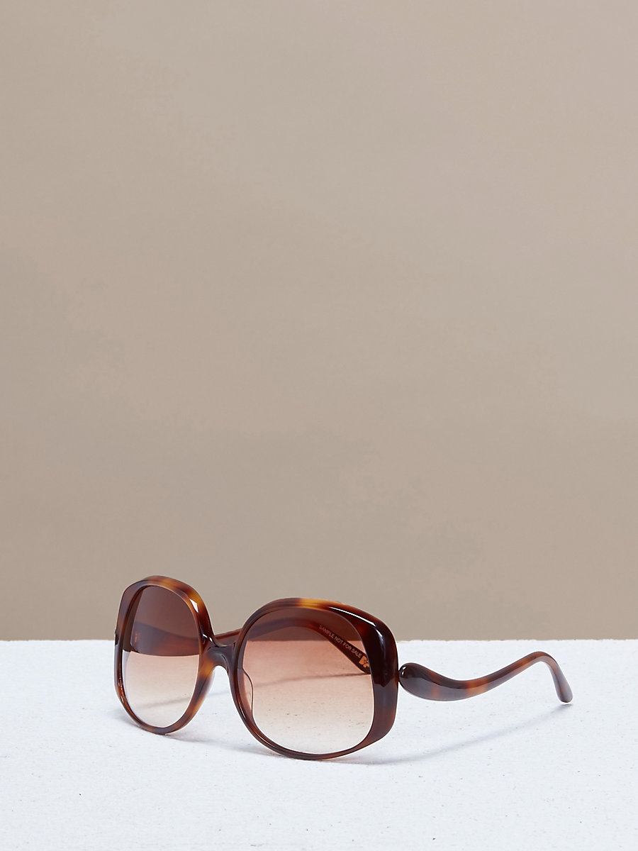 Gwen Sunglasses in Soft Tortoise by DVF