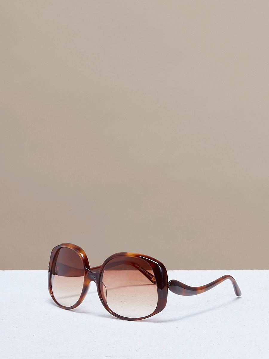 Gwen Sunglasses in Soft Tortoise by DVF