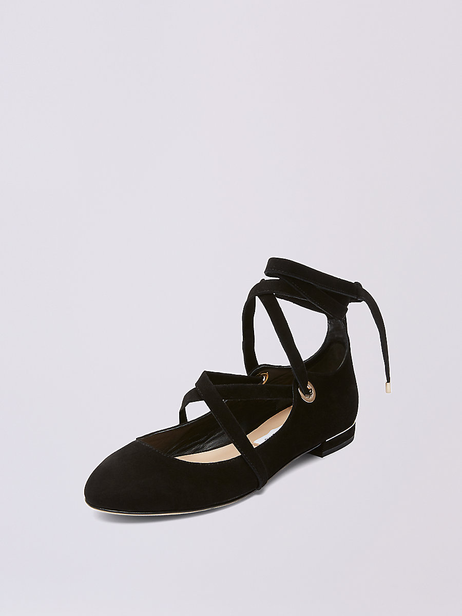 Dakar Ballet Flat in Black by DVF