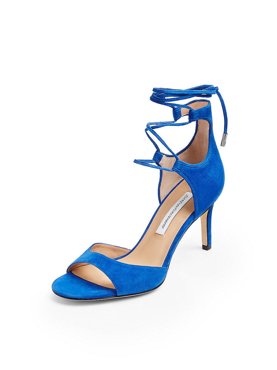 Rimini Heel in Blue Riviera by DVF