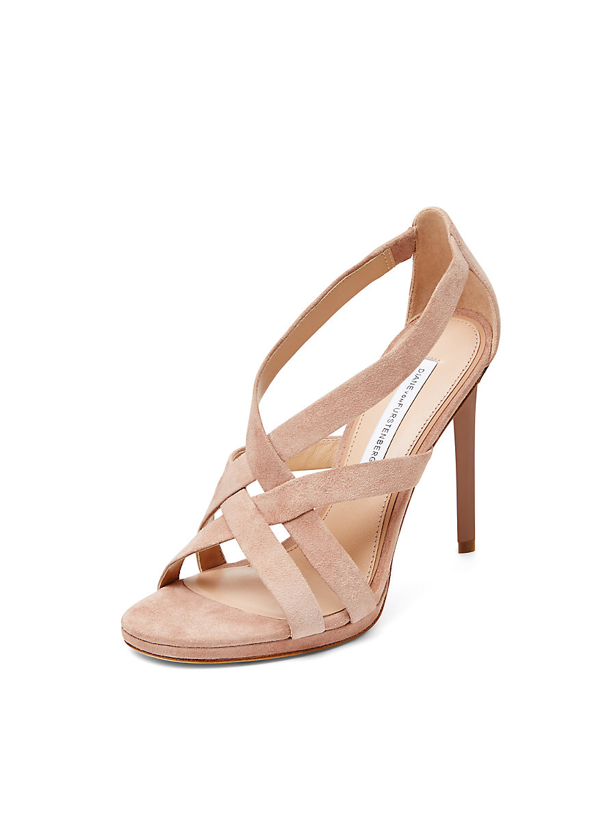 Siracusa Suede Strappy Sandal in Blush by DVF