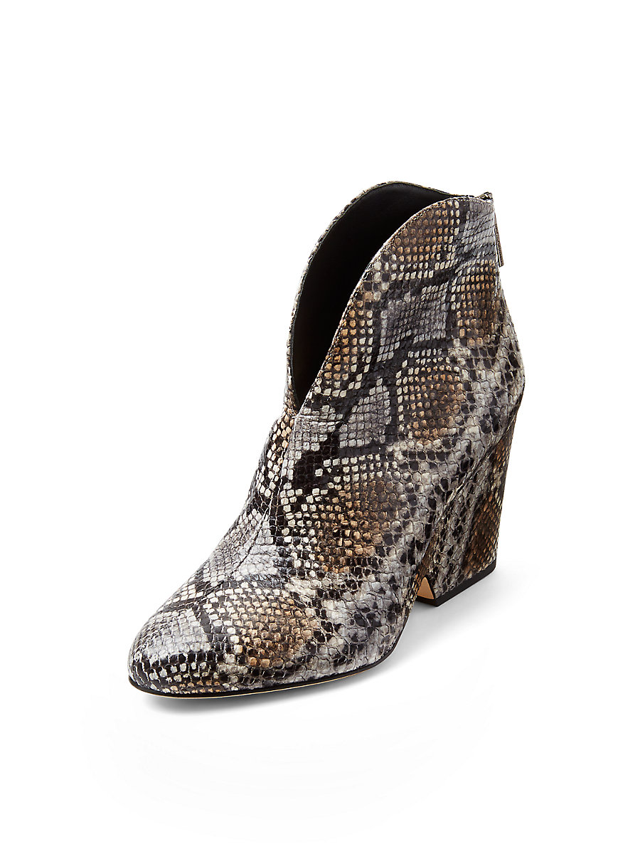 Tarnes Heeled Bootie in Grey by DVF