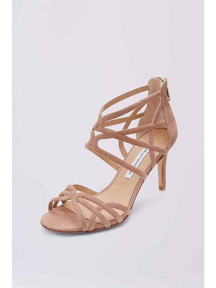 RAO SUEDE SANDAL in Powder by DVF