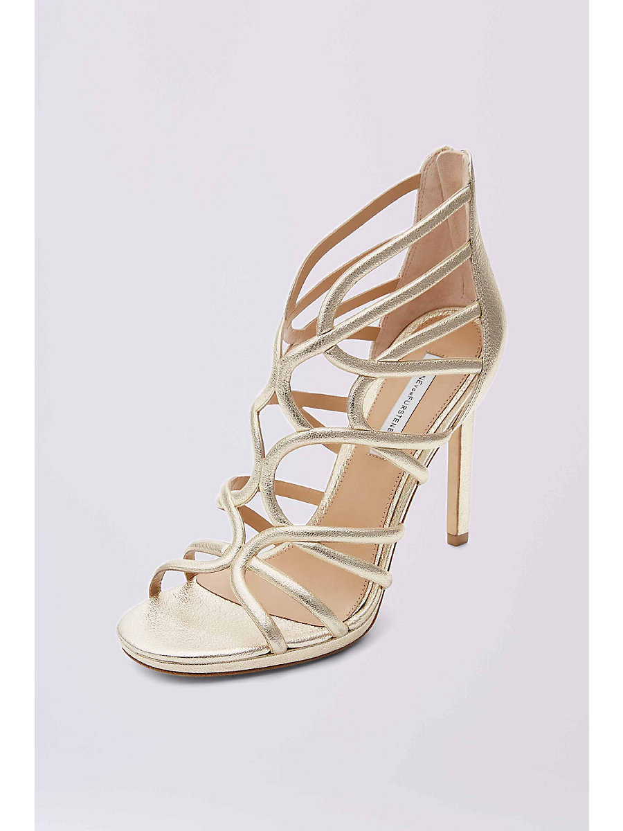 KALYAN SUEDE SANDAL in Gold by DVF