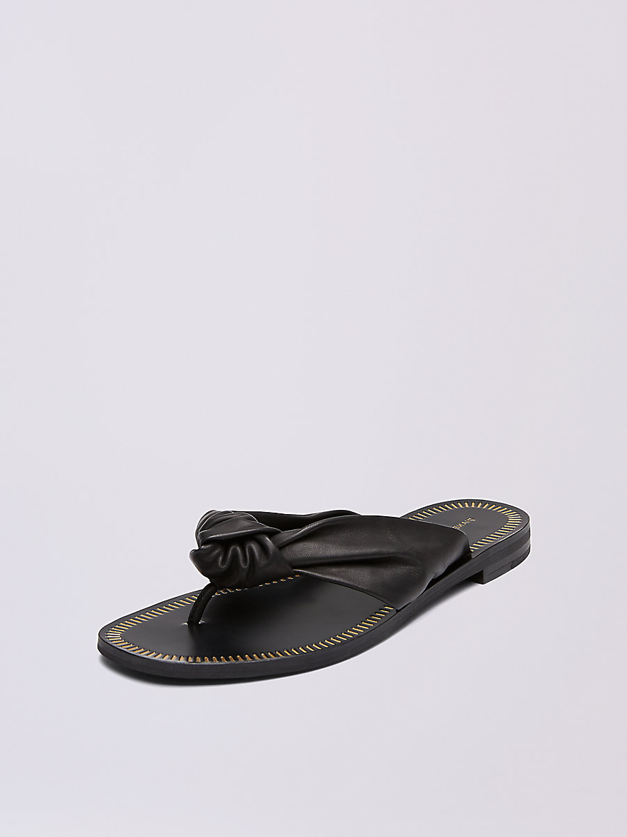 Etna Thong Sandal in Black by DVF