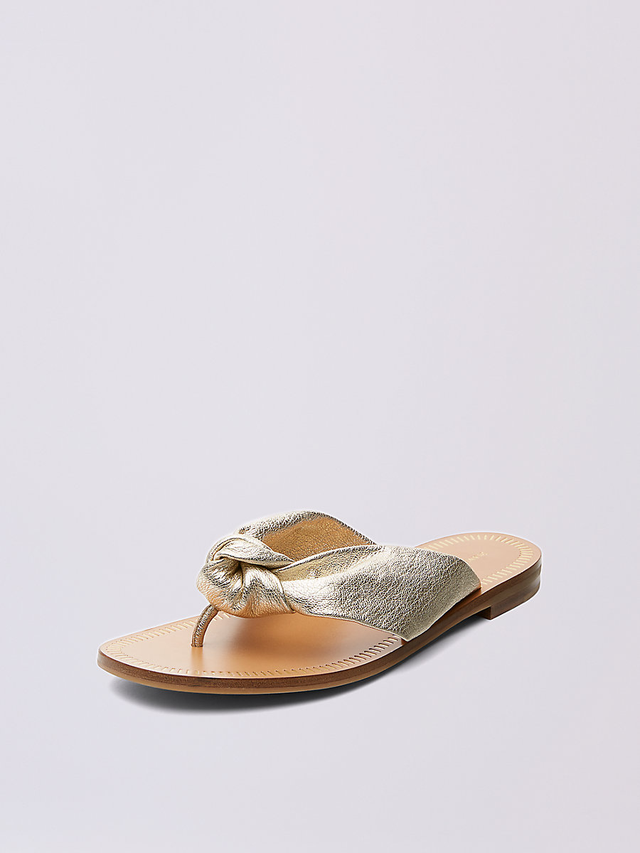 Etna Thong Sandal in Gold by DVF