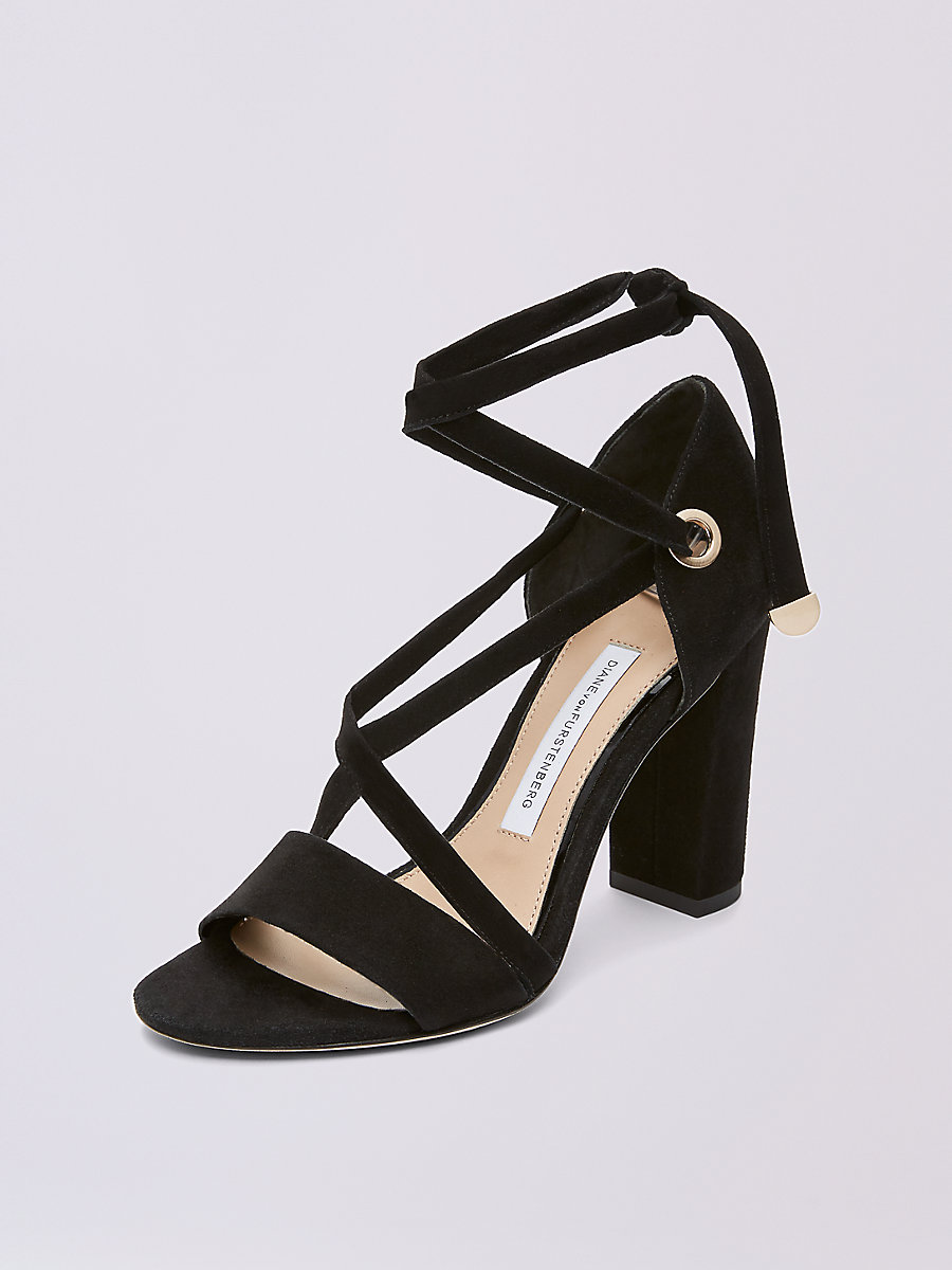 Calabar Heel in Black by DVF