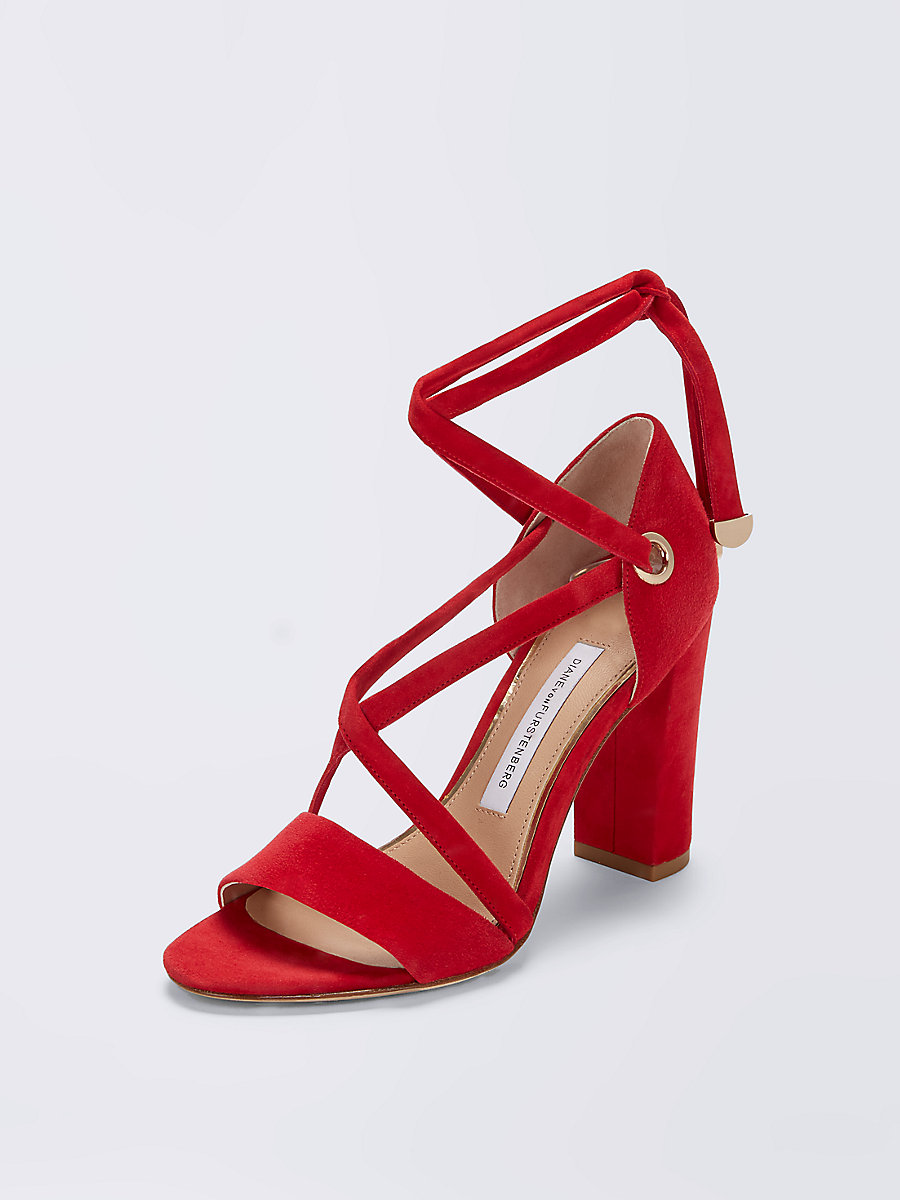 Calabar Heel in Red by DVF