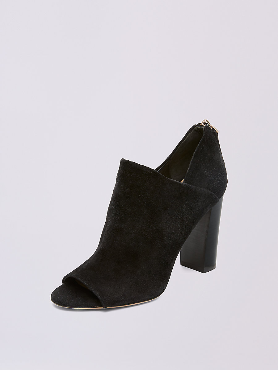 Caracas Open Toed Bootie in Black by DVF