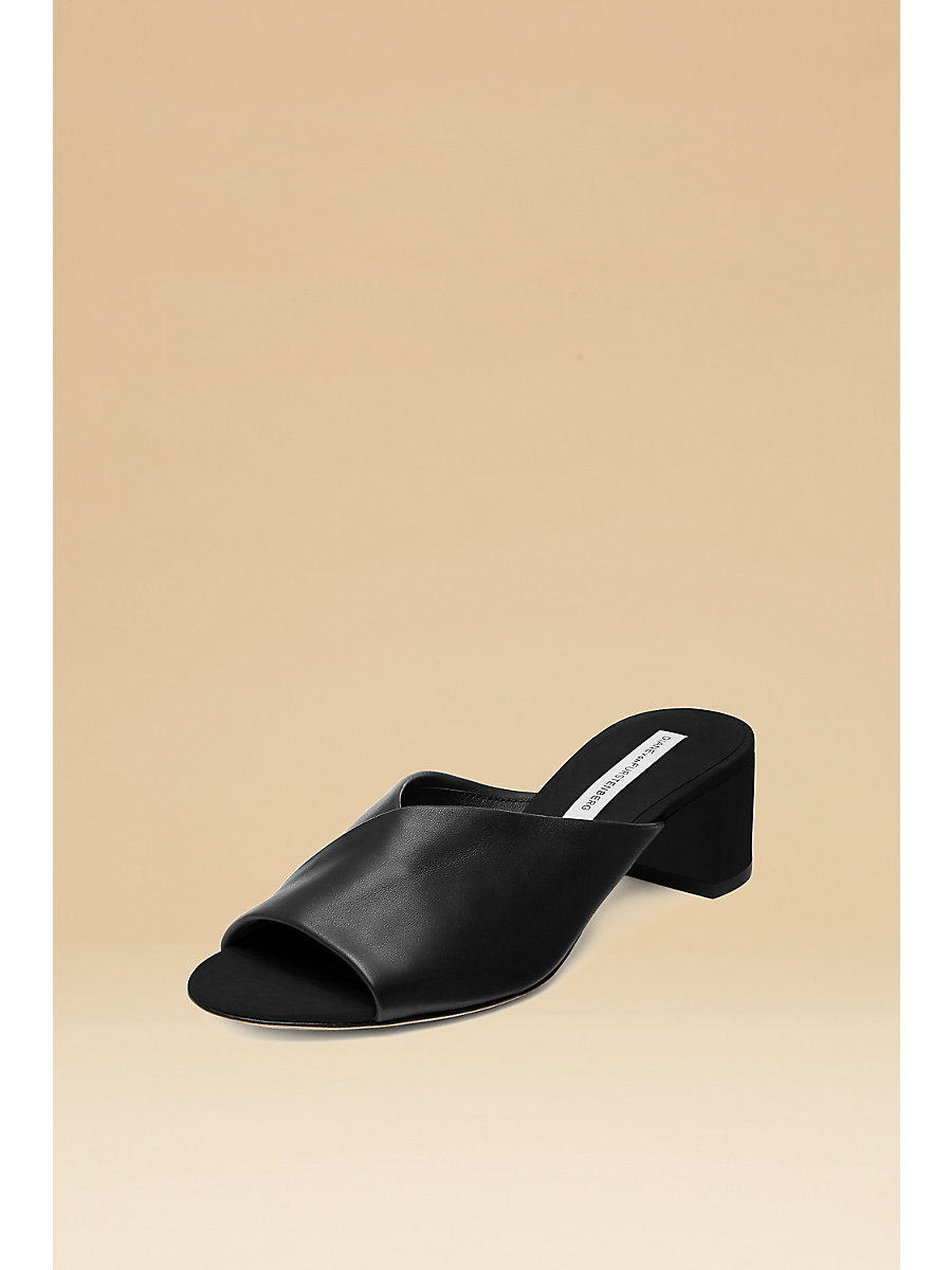 Faleria Mule in Black by DVF