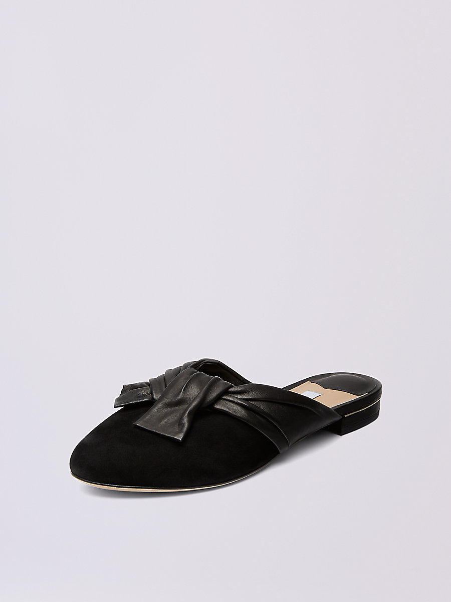 Doha Slide in Black by DVF