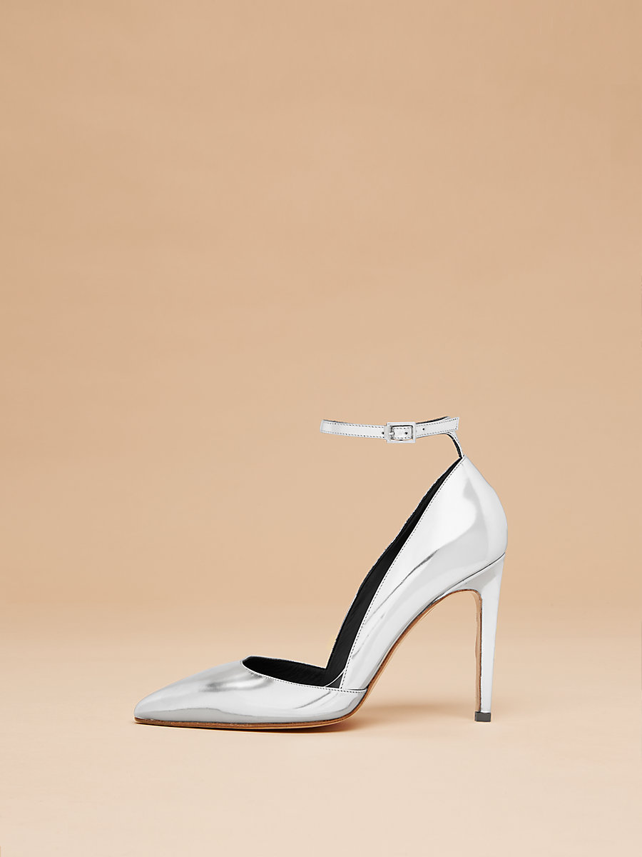 Laredo Pump in Silver by DVF