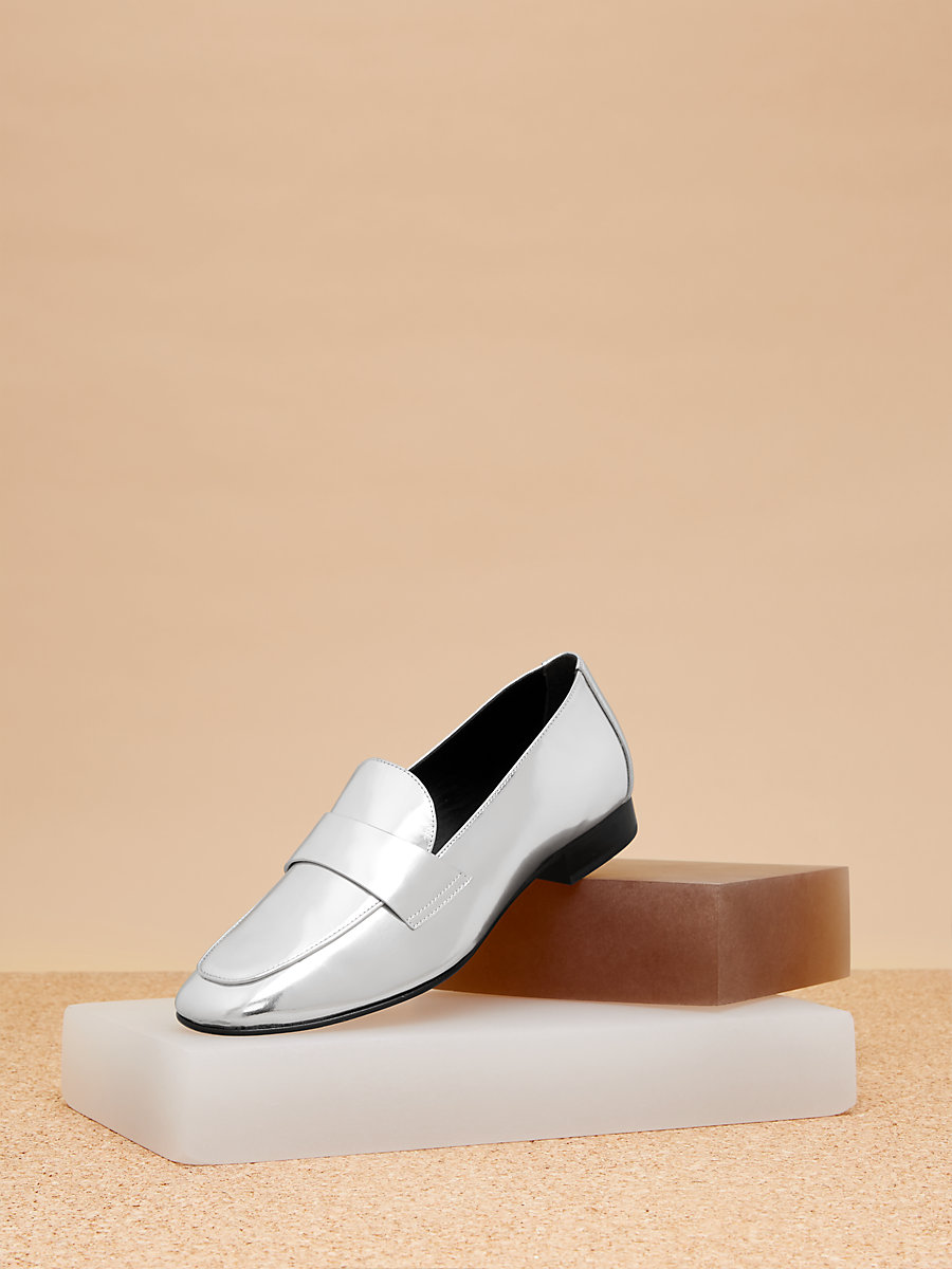 Lafayette Loafer  in Silver by DVF