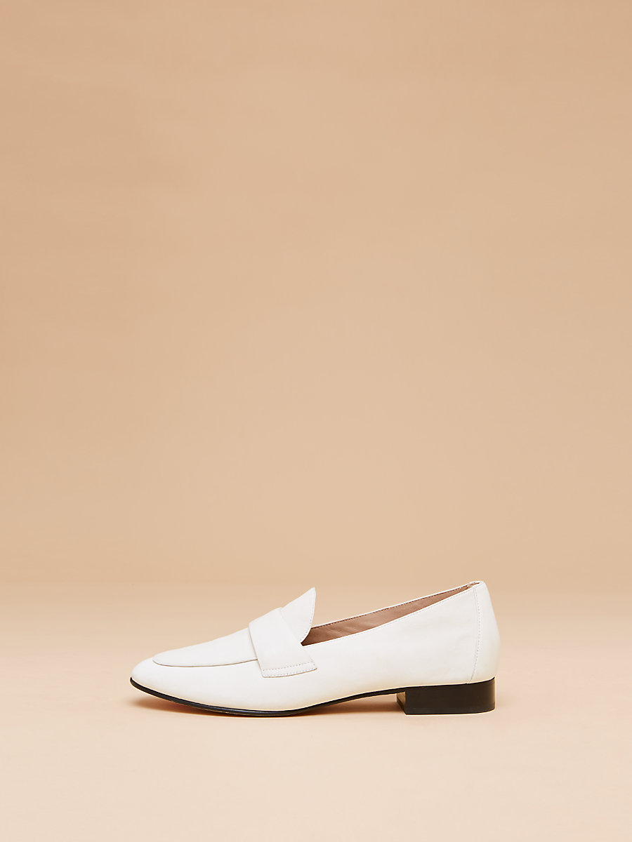 Lafayette Loafer  in White by DVF