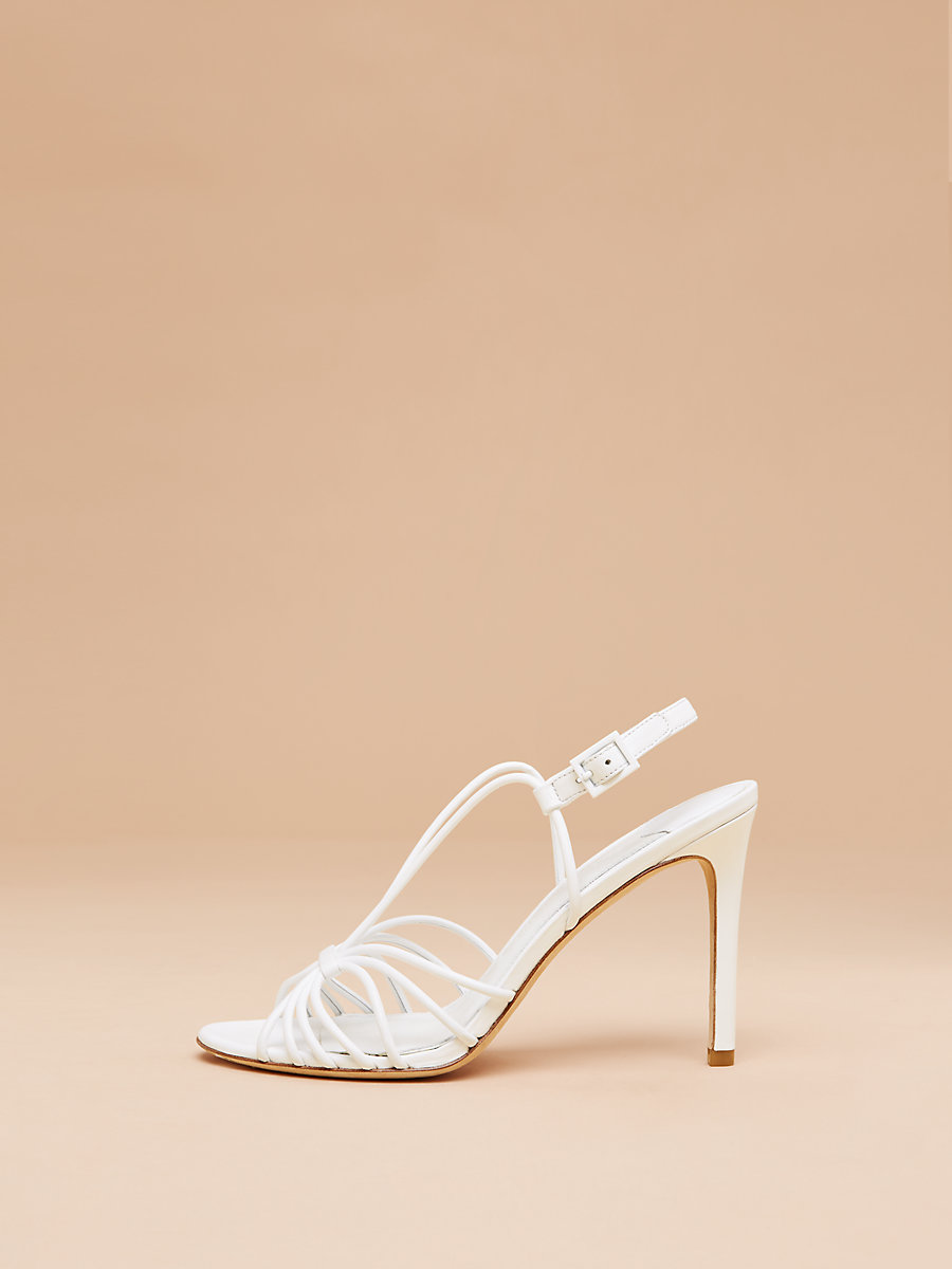 Milena Heel in White Nappa by DVF