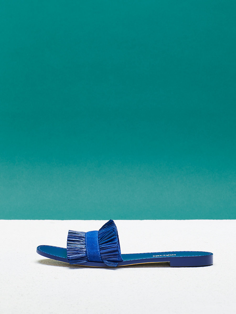 Eilat Sandal in Klein Blue by DVF