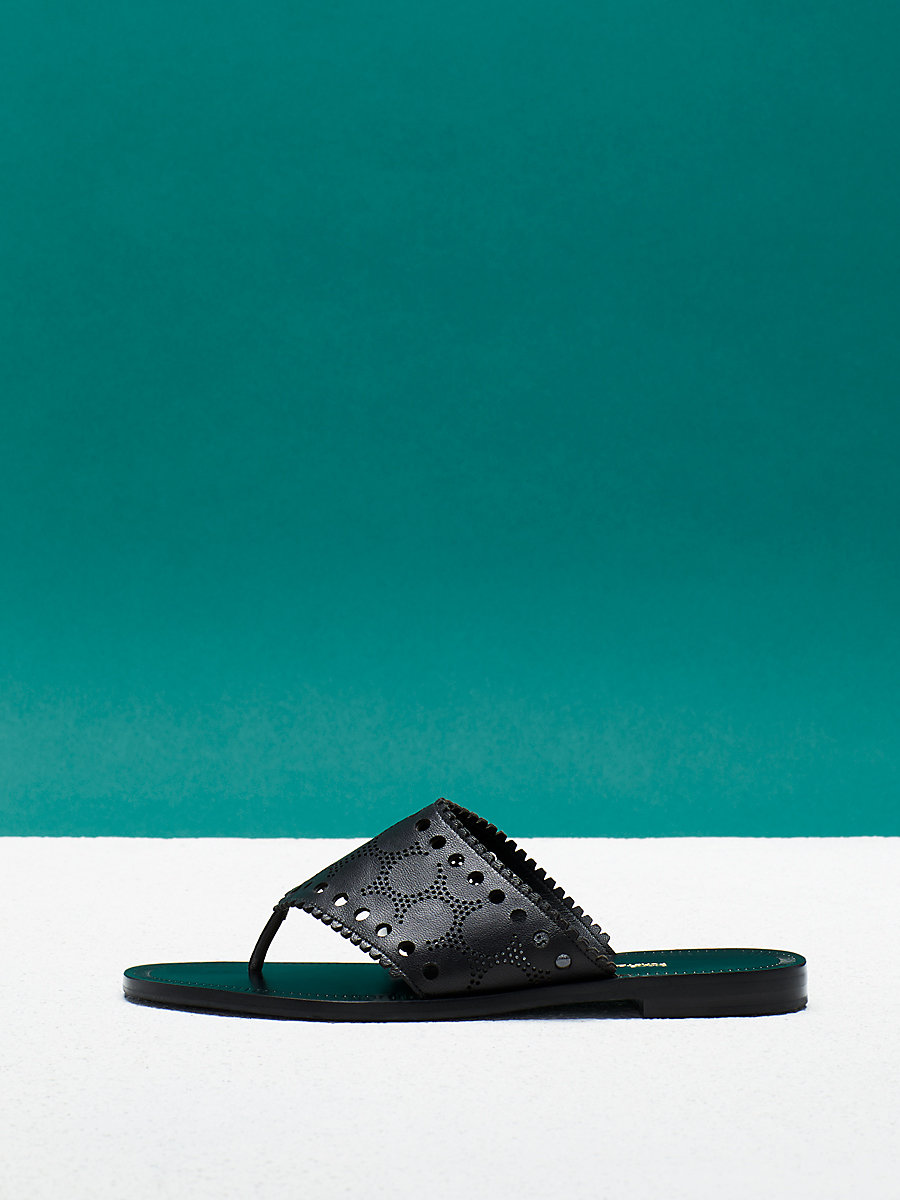 Ekati Sandal in Black by DVF