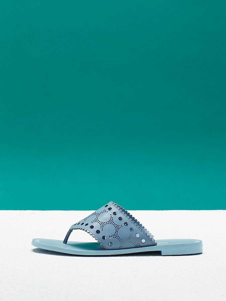 Ekati Sandal in Slate Blue by DVF