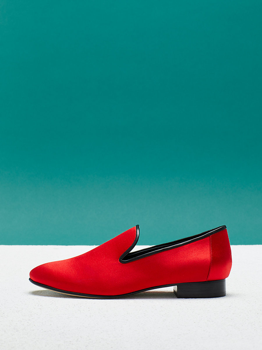 Leiden Loafer in Bold Red by DVF