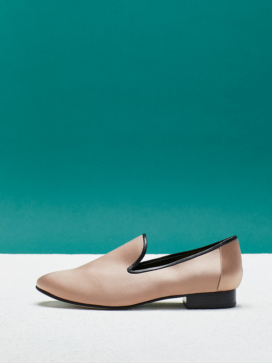 Leiden Loafer in Light Beige by DVF